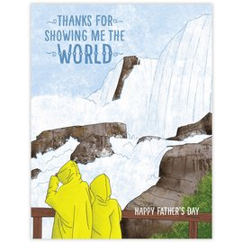 Waterknot Father's Day Card - Show Me the World