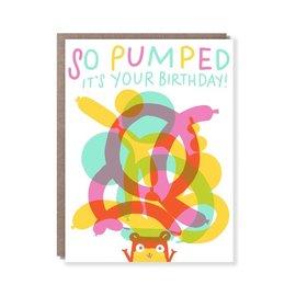 Hello Lucky / Egg Press Birthday Card - So Pumped