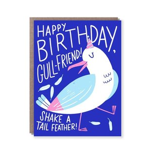 Hello Lucky / Egg Press Birthday Card - Gull Friend