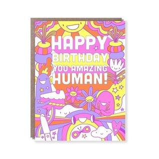 Hello Lucky / Egg Press Birthday Card - Amazing Human