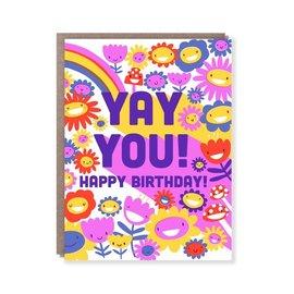 Hello Lucky / Egg Press Birthday Card - Yay You