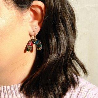 Sleepy Mountain Arch Kaleidoscope Hoop Earrings
