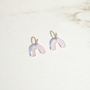 Sleepy Mountain Arch Iridescent Hoop Earrings