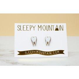 Sleepy Mountain Teeth Stud Earrings