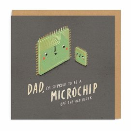 Ohh Deer Father's Day Card - Microchip