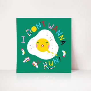 Angelope Design Runny Egg Art Print