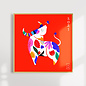 Angelope Design Year of the Ox Framed Print