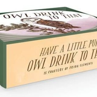 Chronicle Books Owl Drink To That Coasters