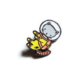 Stasia Burrington Space Kitty Enamel Pin