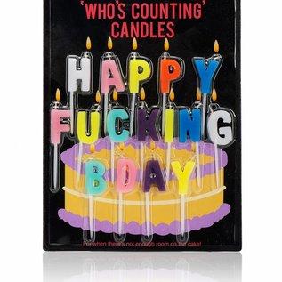 NPW (Worldwide) Happy Fucking BDay Candles