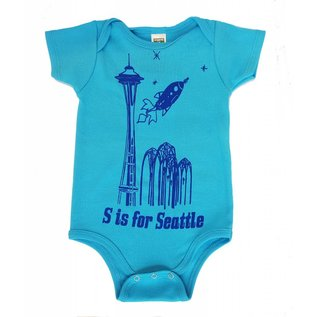 Little Orange Room S is for Seattle Onesie
