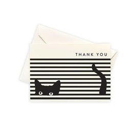 Seltzer Cat Stripe Thank You Notes