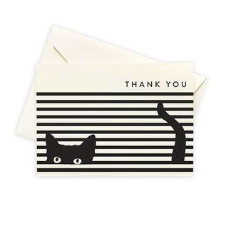 Seltzer Cat Stripe Thank You Notes