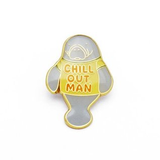 Lucky Horse Press Chill Out, Man Enamel Pin