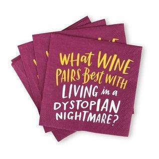 Emily McDowell Studio Wine Dystopia Beverage Napkins