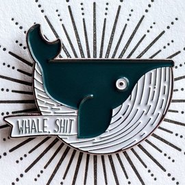 West Park Creative Enamel Pin - Whale, Shit