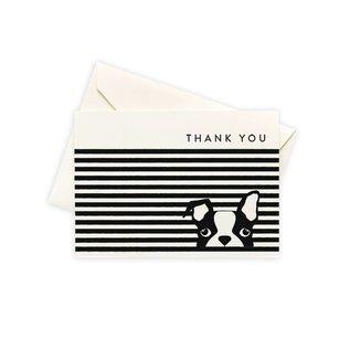 Seltzer Dog Stripe Thank You Notes