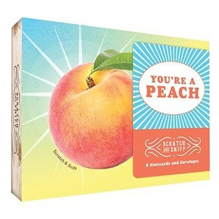 Chronicle Books You're A Peach Scratch & Sniff Notecards