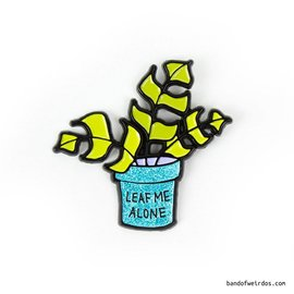 Band of Weirdos Leaf Me Alone Enamel Pin
