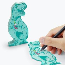 Mustard Sticky Notes - T- Rex