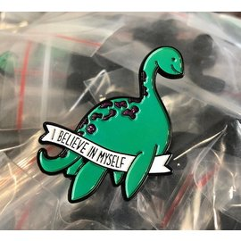 West Park Creative I Believe Loch Ness Monster Enamel Pin