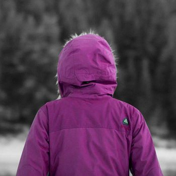 Purple Arcteryx Covert Hoody Women's
