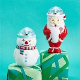 TWO'S COMPANY CUPCAKES AND CARTWHEELS:  SPINNING MUSICAL CHRISTMAS TOY (ASST)