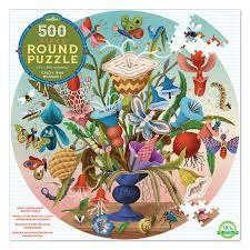 EEBOO: Crazy Bug Bouquet 500 Piece Round Puzzle