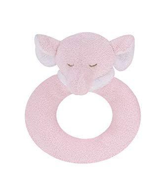 ANGEL DEAR ANGEL DEAR:  RING RATTLE - PINK ELEPHANT