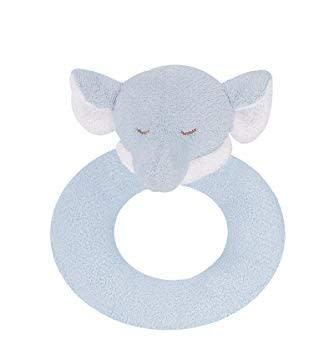 ANGEL DEAR ANGEL DEAR:  RING RATTLE - BLUE ELEPHANT