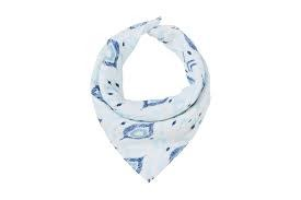 ANGEL DEAR ANGEL DEAR:  BANDANA BIB - BLUE IKAT