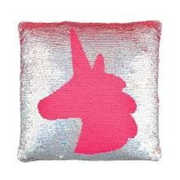 Magic Sequin Pillow Unicorn Pink Goldbig City Toys