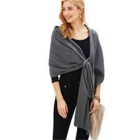 TWO'S COMPANY 2 CHIC:  WRAP SCARF WITH PULL THRU TAB