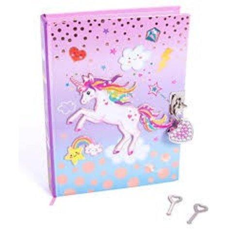 HOT FOCUS: Diary with Lock - Unicorn