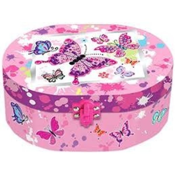 HOT FOCUS: Oval Shaped Musical Jewelry Box, Paradise