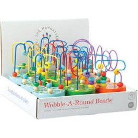 MANHATTAN TOY: Wobble-A-Round Beads Blue