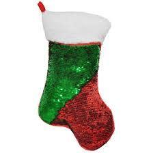 ISCREAM ISCREAM:  CHRISTMAS STOCKING REVERSIBLE SEQUIN STORAGE PILLOW