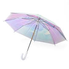 FCTRY FCTRY:  Holo Adult Umbrella - Holographic Umbrella - Kids