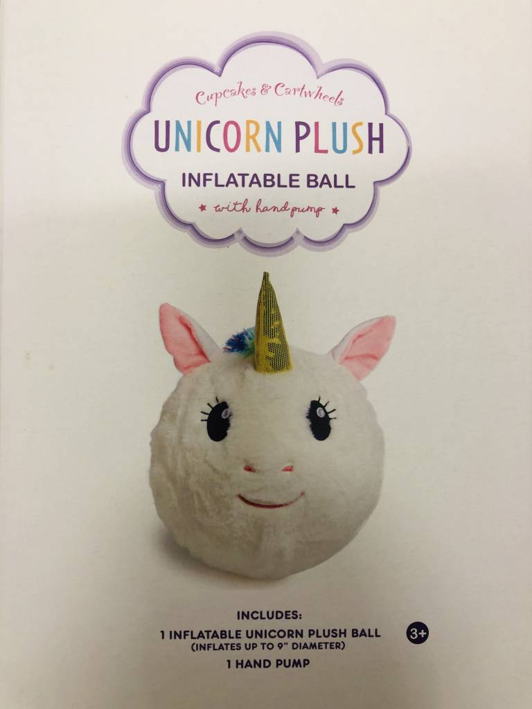 CUPCAKES AND CARTWHEELS:  PLUSH UNICORN BALL (IN BOX)