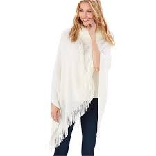 2 CHIC:  INFINITY SHAWL WITH FAUX FUR COLLAR (ASST 1 OF 2 COLORS - BLACK OR IVORY)