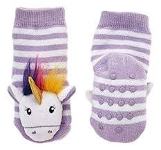 TWO'S COMPANY CUPCAKES AND CARTWHEELS:  UNICORN BABY RATTLE SOCKS