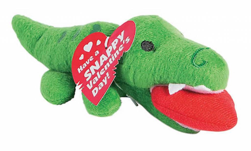 FUN EXPRESS Valentine Exchangeable Alligator Plush