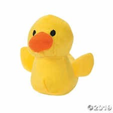 FUN EXPRESS Rubber Ducky Mini Plush Animal