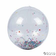 Confetti Large Beach Ball