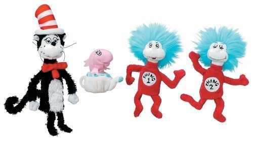 Dr. Seuss CAT IN THE HAT Boxed Finger Puppet Set