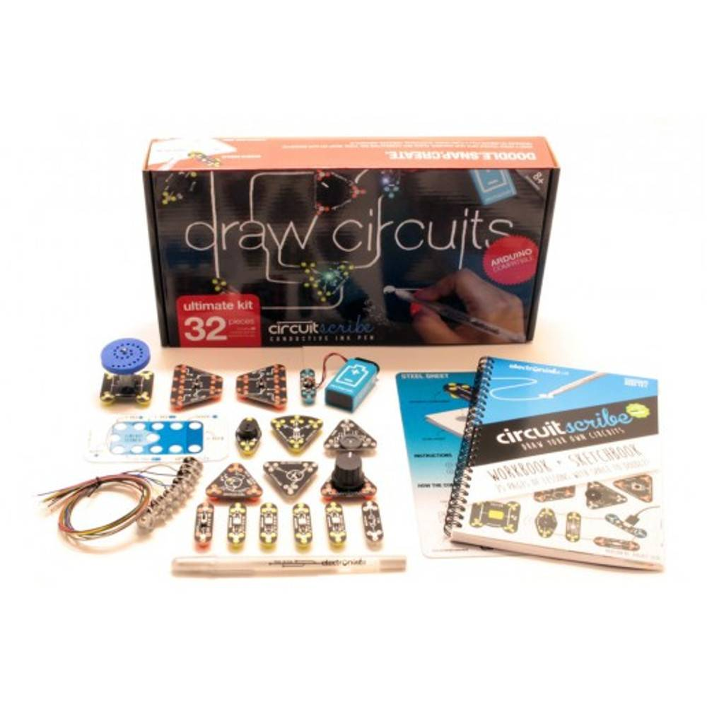 ELECTRON INKS CIRCUIT SCRIBE:  ULTIMATE KIT (32 PC)