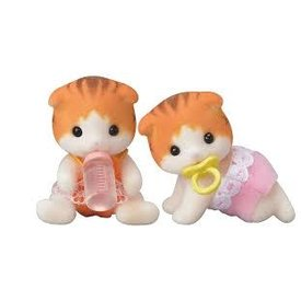 Calico Critters CALICO CRITTERS:  Maple Cat Twins
