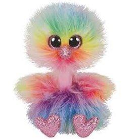 TY: ASHA - rainbow ostrich med