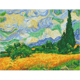 Diamond Dotz Kit:  Wheat Fields (Van Gogh)