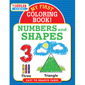 PETER PAUPER Toddler Time: My First Coloring Book- Numbers and Shapes